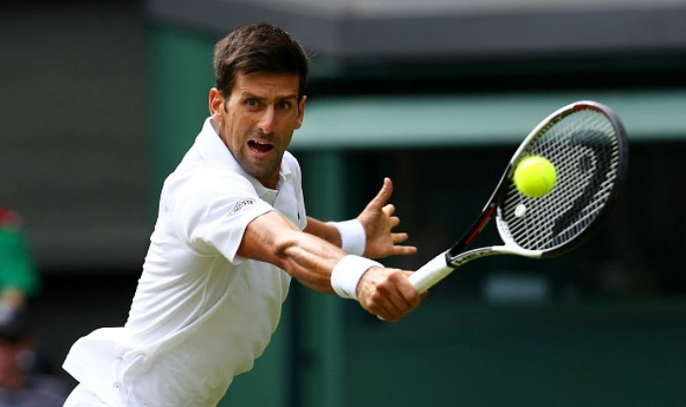 Novak Djokovic in 2017 Wimbledon