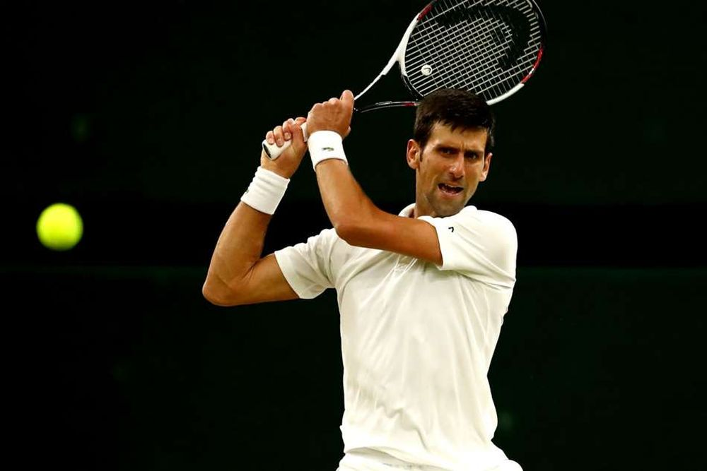 Novak Djokovic in 2018 Wimbledon