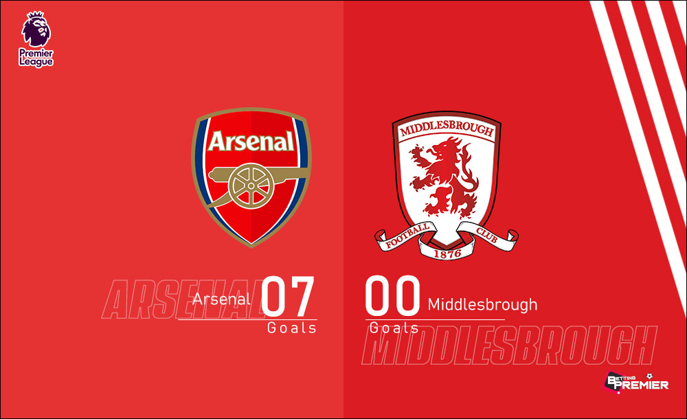 Arsenal EPL Biggest Win Against Middlesbrough